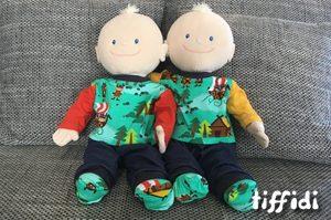Puppenkleidung aus Wikingerstoff für Krümel von Jako-o