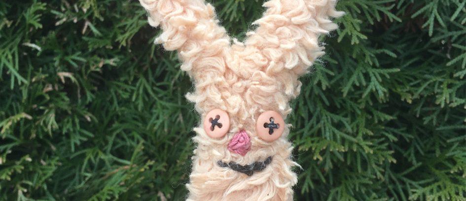 Hasenfingerpuppe aus Teddyplüsch
